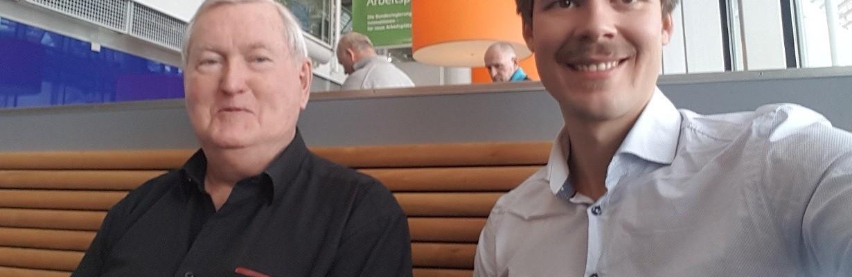 Terje Vold i Vold Engineering, og Henrik Kirkeby i PQA på tur til A-Eberle i Nurnberg